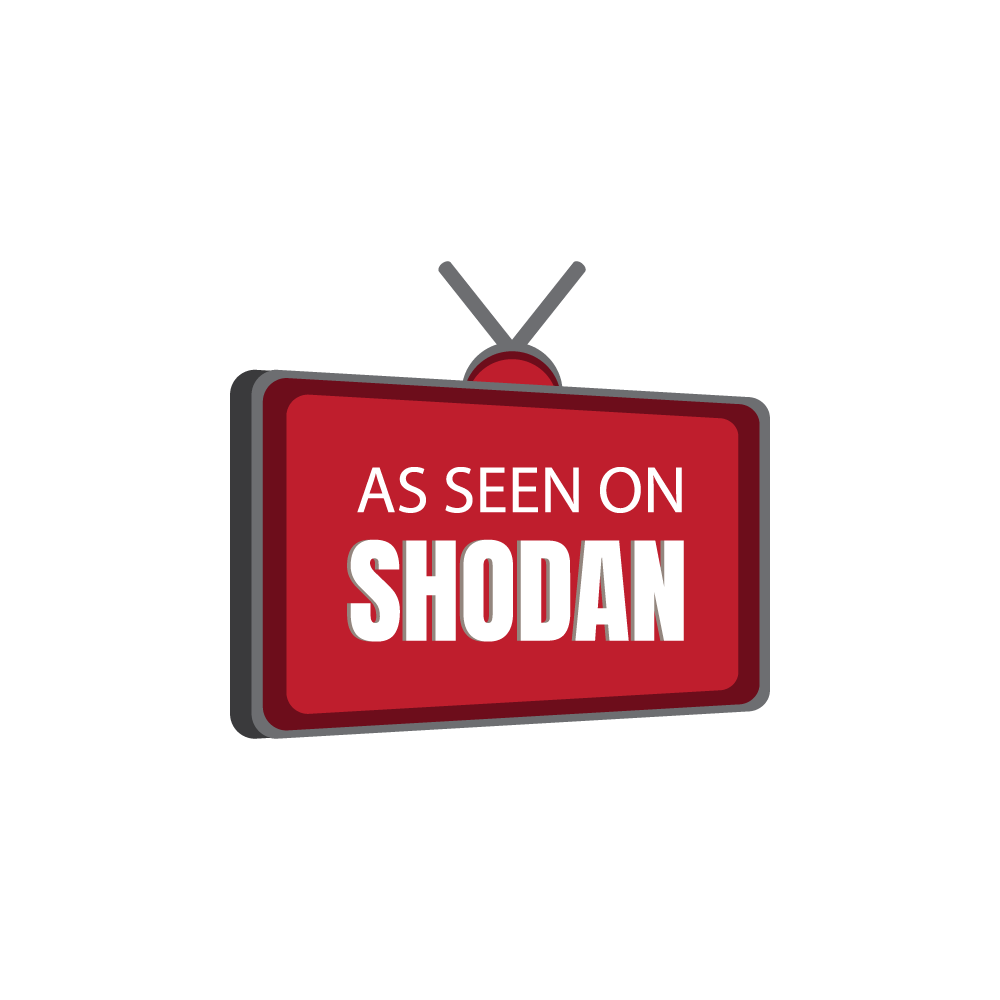 As seen on Shodan logo
